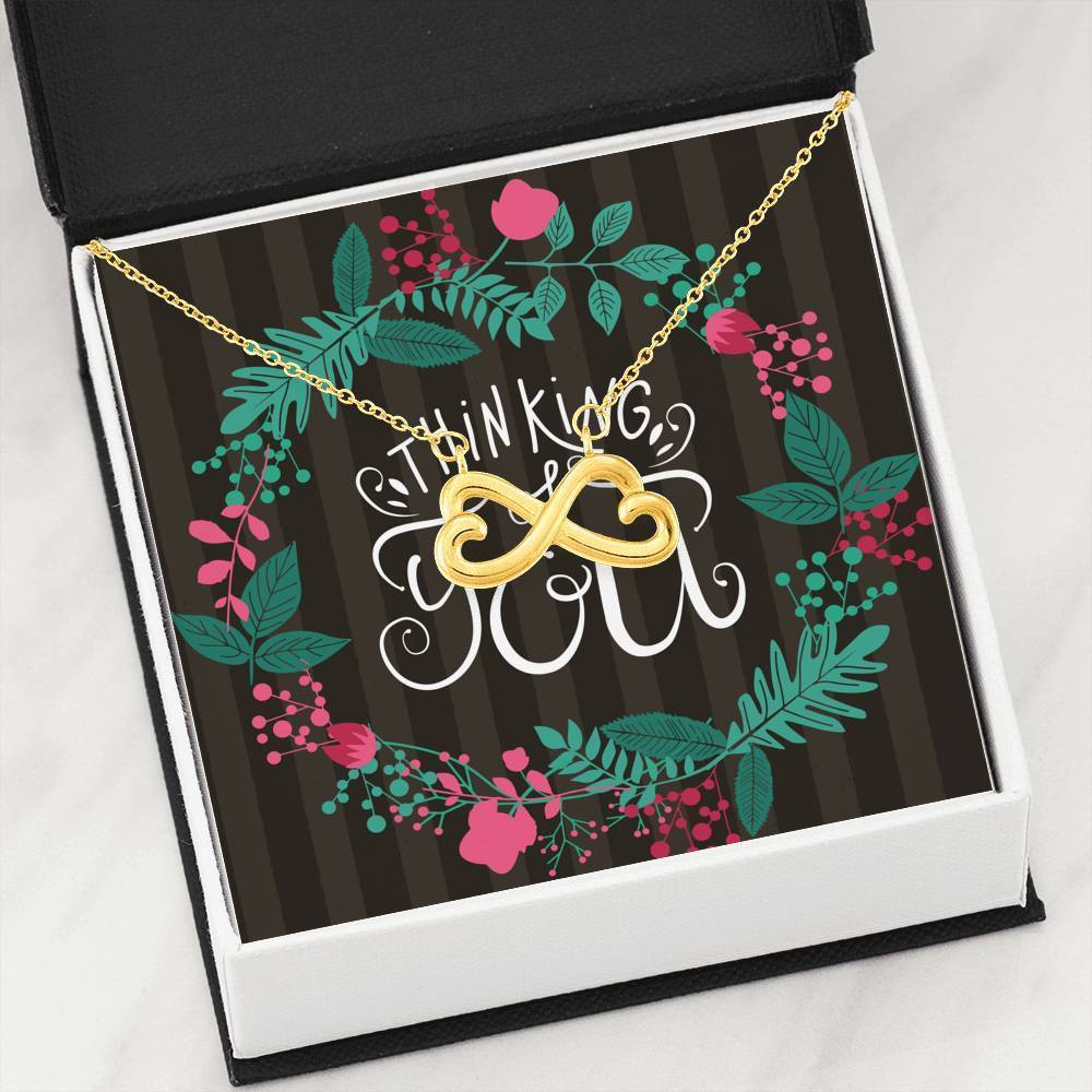 Thinking of You Infinity Pendant Necklace Message Card Express Your Love Gifts