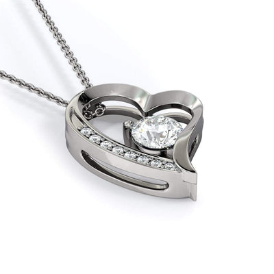 To My Daughter From Dad Infinity Necklace 18k Gold Finish or Stainless Steel CZ Heart Pendant Express Your Love Gifts