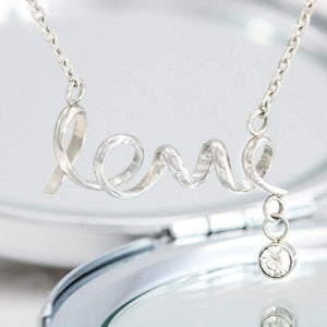 "To My Wife Together We're Everything Scripted Love Card Necklace Stainless Steel 16-22"" Adjustable Cable Chain Express Your Love Gifts"