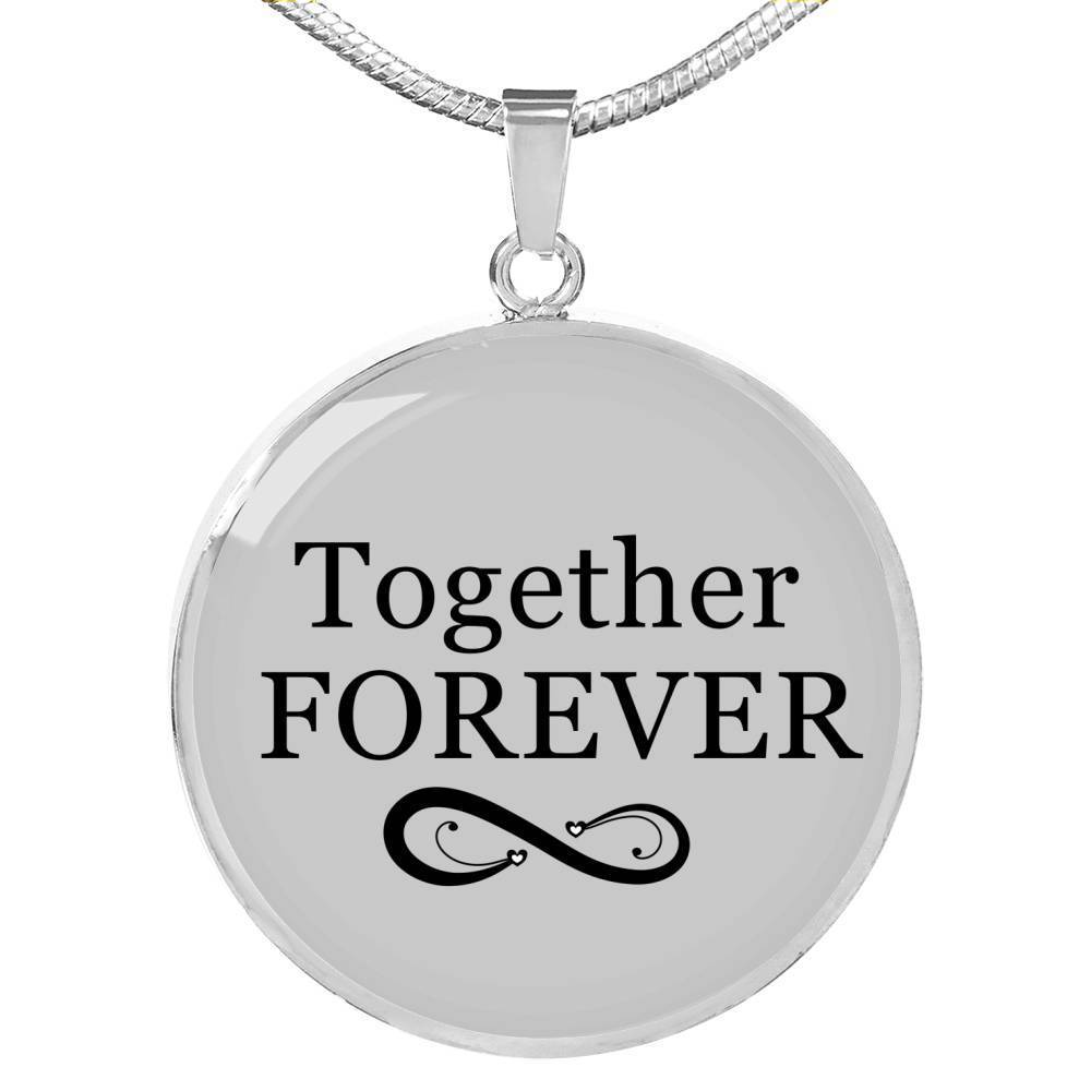 Express Your Love Gifts Together Forever Circular Pendant Necklace