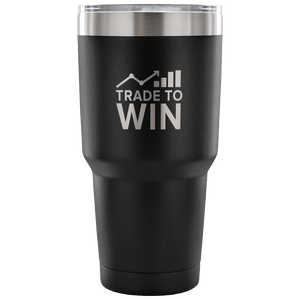 Express Your Love Gifts Trade To Win Wall Street 30oz Tumbler 30 Ounce Vacuum Tumbler - Black