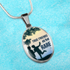 True Friends are Rare- Handmade Stainless Steel- Oval Pendant Necklace Express Your Love Gifts