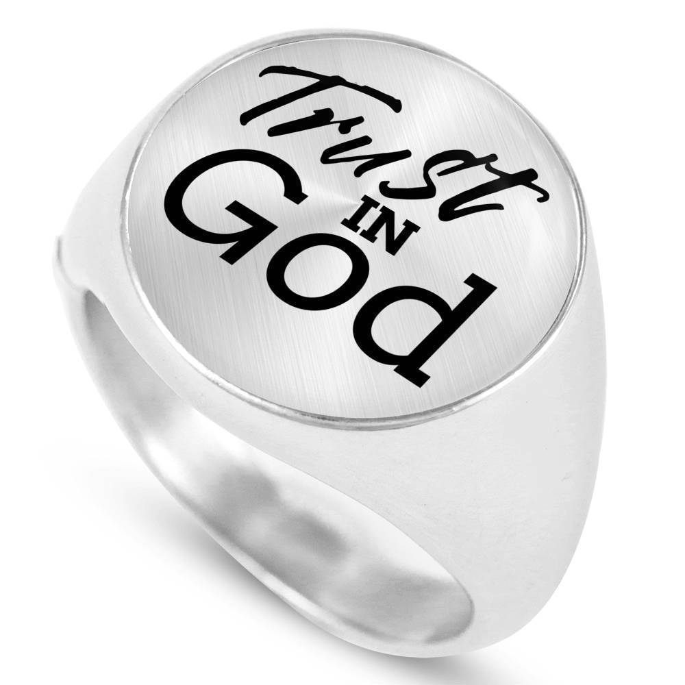 Express Your Love Gifts Trust In God Scripture Circle Signet Ring