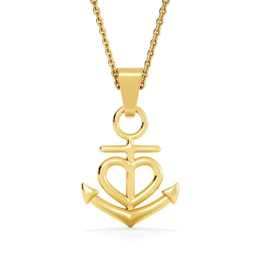 Tus Alas Estaban Listas Anchor Pendant Necklace Message Card Express Your Love Gifts