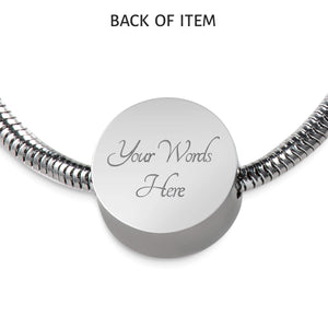 With You I Am Home Handmade Stainless Steel Circle Charm Bracelet Express Your Love Gifts
