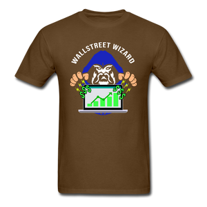 Express Your Love Gifts Wizard of WallStreet Trader Tee brown / S