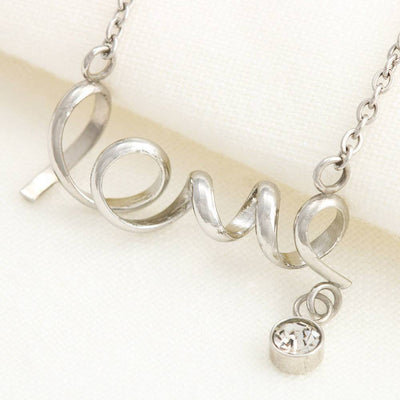 Wonderful Mother Meaningful Mom Gift, Scripted Necklace Stainless Steel, Mother's Day Jewelry Express Your Love Gifts
