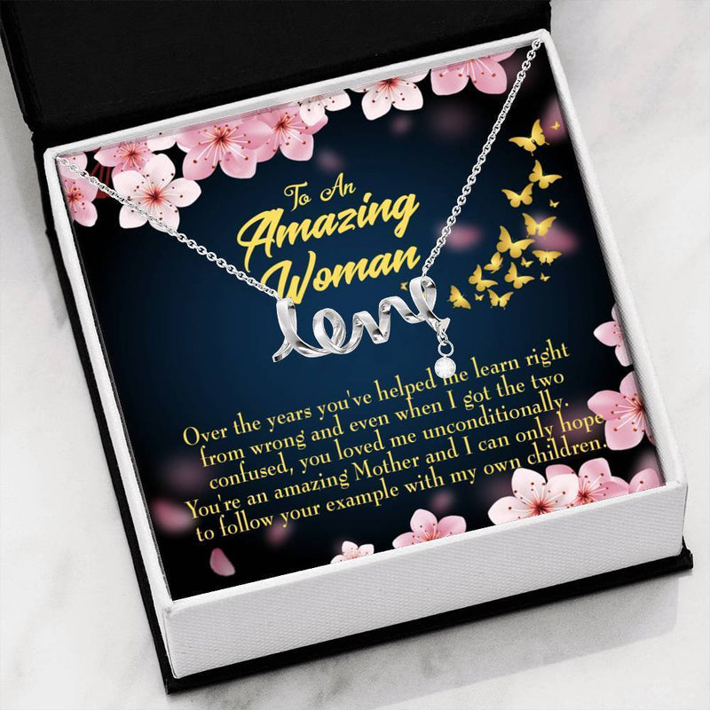 You Loved Me Meaningful Mom Gift, Scripted Necklace Stainless Steel, Mother's Day Jewelry Express Your Love Gifts