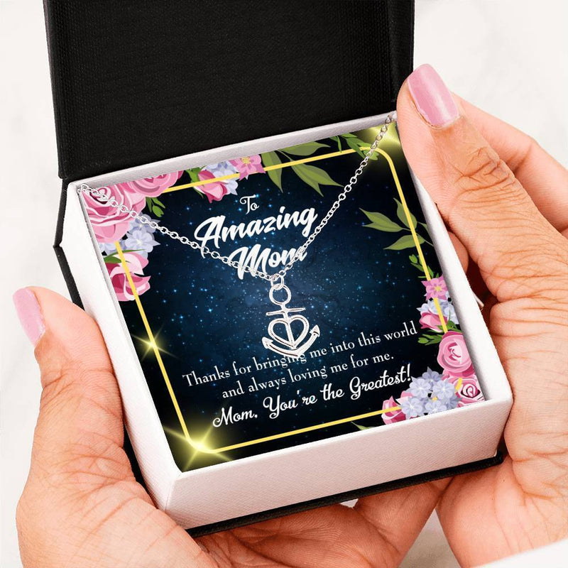 You're the Greatest Anchor Pendant Stainless Steel, Mothers Day Birthday Jewelry Gift Express Your Love Gifts