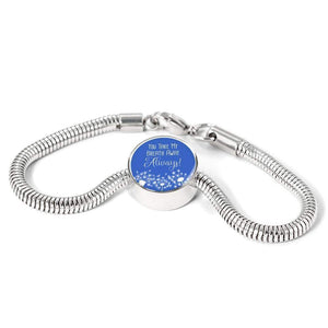 You Take My Breathe Away Always Handmade Stainless Steel Circle Charm Bracelet Express Your Love Gifts