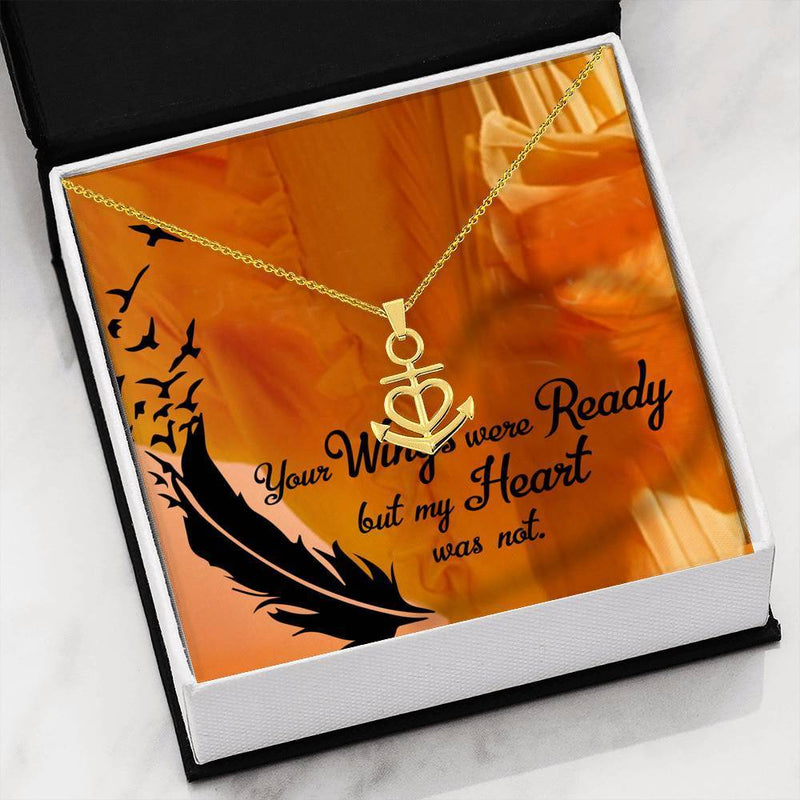 Your Wings Were Ready Anchor Pendant Necklace Message Card Express Your Love Gifts