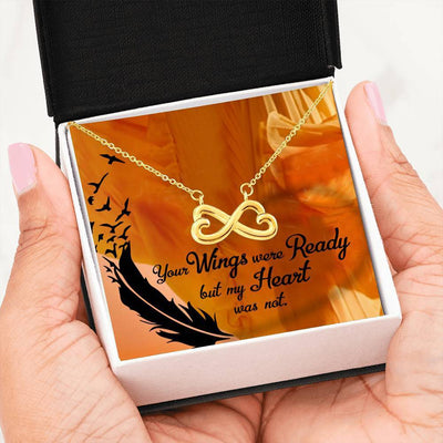 Your Wings Were Ready Infinity Pendant Necklace Message Card Express Your Love Gifts