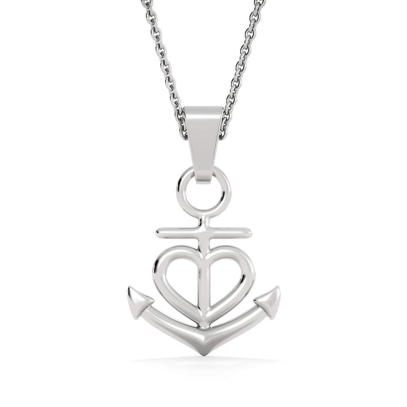 To Mom, My Heart is Always Yours, Anchor Pendant Stainless Steel, Keepsake Card