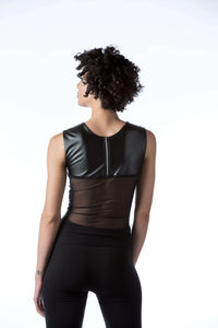 Vegan Leather and Sequin Top | Abigail