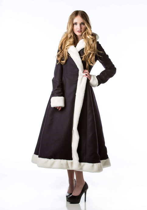 vintage overcoat faux fur wool pockets clothing larae fashions