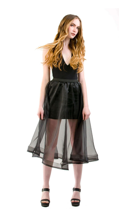 Sheer Midi Skirt | Lena