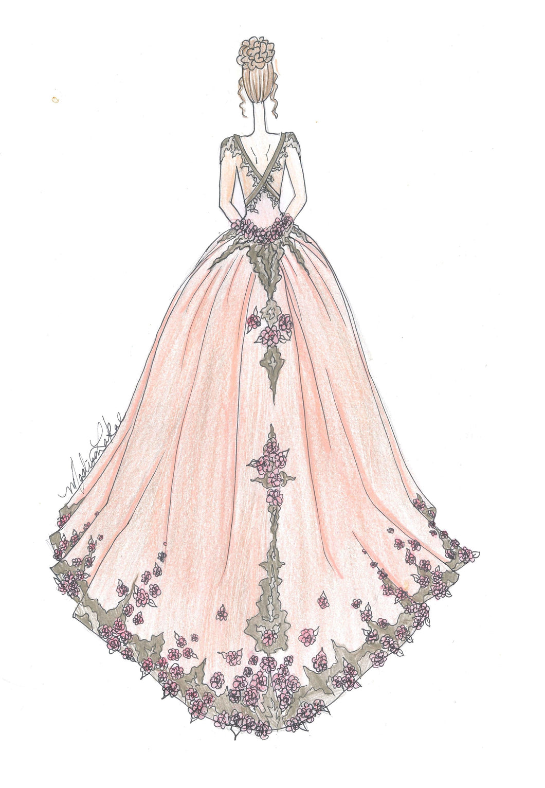 Rose Gold Gown | Art Print