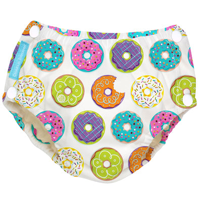 Reusable Easy Snaps Swim Diaper Delicious Donuts Large