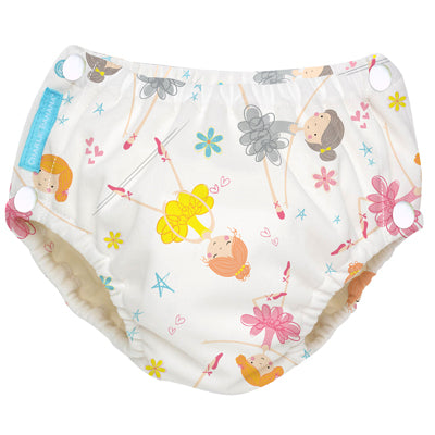 Reusable Easy Snaps Swim Diaper Diva Ballerina X-Large