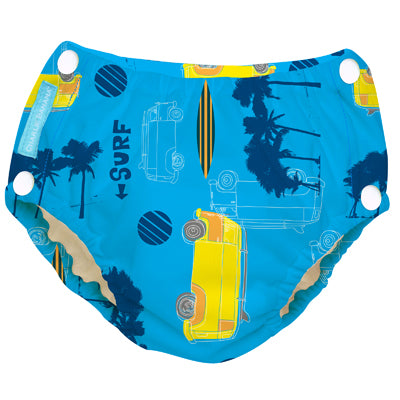 Reusable Easy Snaps Swim Diaper Malibu X-Large