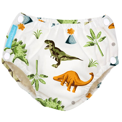 2-in-1 Swim Diaper & Training Pants w/snaps Dinosaurs Large