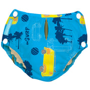 2-in-1 Swim Diaper & Training Pants w/snaps Malibu Large