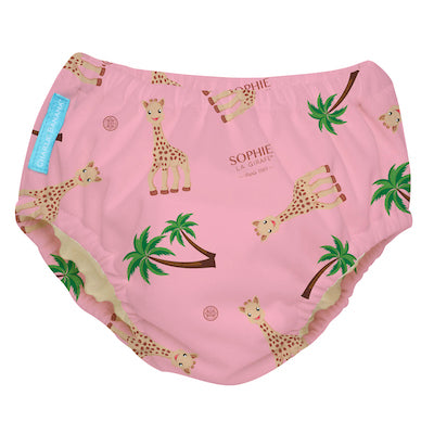 2-in-1 Swim Diaper & Training Pants Sophie Coco Pink Small