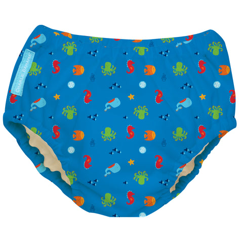 Reusable Swim Diaper Under the Sea Medium