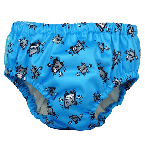 Reusable Swim Diaper Matthew Langille Robot Boy Medium