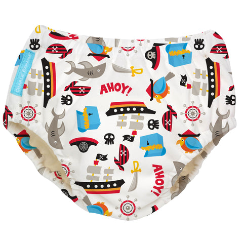 Reusable Swim Diaper Pirate Large