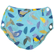 Reusable Easy Snaps Swim Diaper Twitter Birds Medium