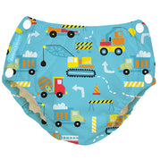 Reusable Easy Snaps Swim Diaper Construction Large