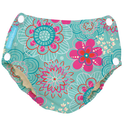 Reusable Easy Snaps Swim Diaper Floriana X-Large