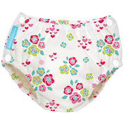 Reusable Easy Snaps Swim Diaper Floralie Medium