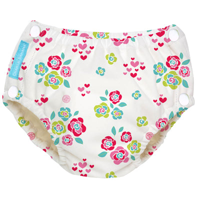 Reusable Easy Snaps Swim Diaper Floralie Large