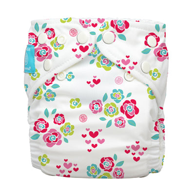 Diaper 2 Inserts Floralie One Size Hybrid AIO