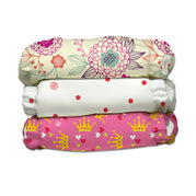 3 Diapers 6 Inserts Queen CB One Size Hybrid AIO