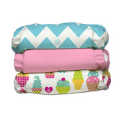 3 Diapers 6 Inserts Cotton Candy One Size Hybrid AIO