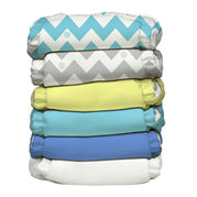 6 Diapers 12 Inserts Uni-Chevron One Size Hybrid AIO
