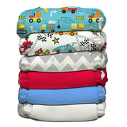 6 Diapers 12 Inserts Classic One Size Hybrid AIO