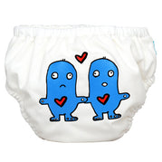 2-in-1 Swim Diaper & Training Pants Matthew Langille Lovey Dovey White Small