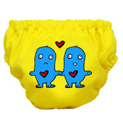 2-in-1 Swim Diaper & Training Pants Matthew Langille Lovey Dovey Yellow Small