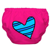 2-in-1 Swim Diaper & Training Pants Matthew Langille Blue Petit Coeur Hot Pink Small