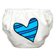 2-in-1 Swim Diaper & Training Pants Matthew Langille Blue Petit Coeur White Large