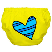 2-in-1 Swim Diaper & Training Pants Matthew Langille Blue Petit Coeur Yellow Medium