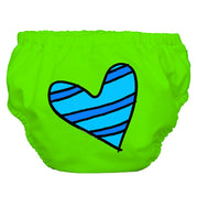 2-in-1 Swim Diaper & Training Pants Matthew Langille Blue Petit Coeur Green Medium