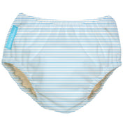 2-in-1 Swim Diaper & Training Pants Pencil Stripes Blue Medium