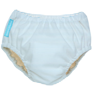 2-in-1 Swim Diaper & Training Pants Pencil Stripes Blue Large