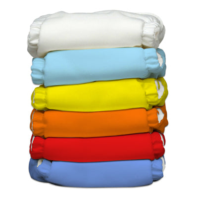 6 Diapers 12 Inserts Unisex Hot One Size Hybrid AIO