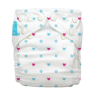 Diaper 2 Inserts Lovely Blue One Size